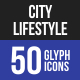 City Lifestyle Glyph Icons-Graphicriver中文最全的素材分享平台