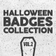 Halloween Badges Set. Vol.2-Graphicriver中文最全的素材分享平台