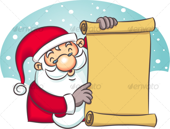 Santa Holding List - Characters Illustrations