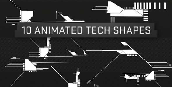 VideoHive Tech Shapes 10 Pack 1652770