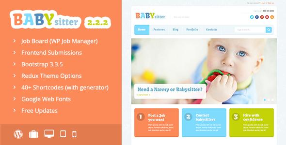 Babysitter - Responsive WordPress Theme by dan_fisher | ThemeForest