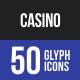 Casino Glyph Icons-Graphicriver中文最全的素材分享平台