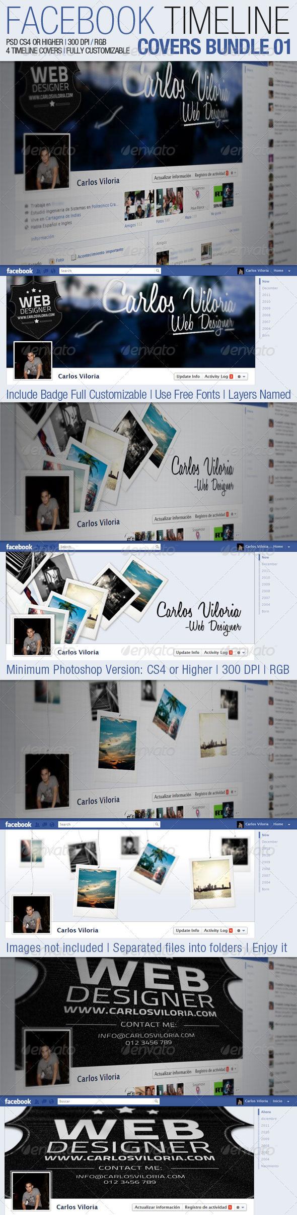 GraphicRiver Facebook Timeline Covers Bundle 01 1791297