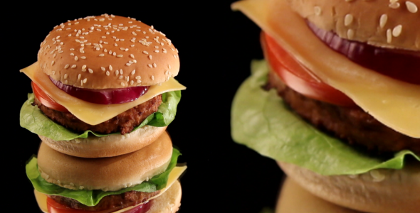 VideoHive Burger Hamburger 4-Pack 1791298