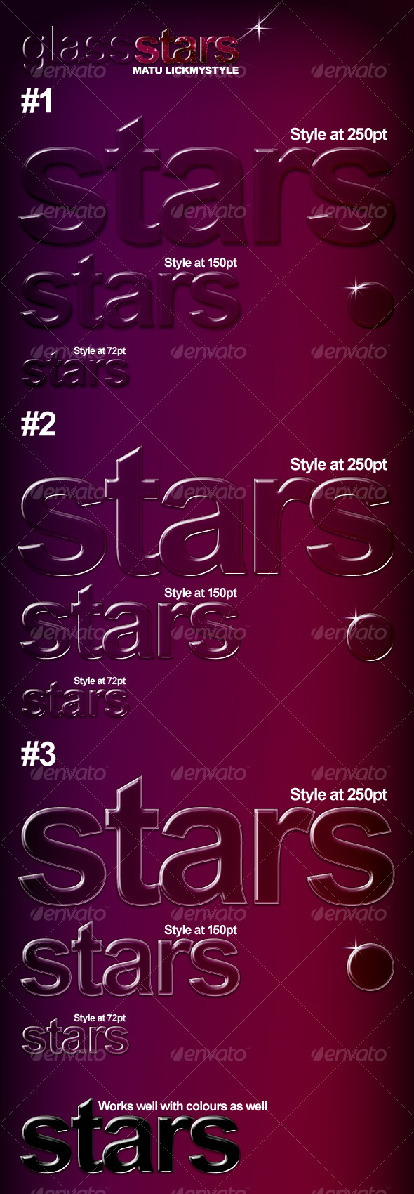 Glass Star Effect Styles - Text Effects Styles