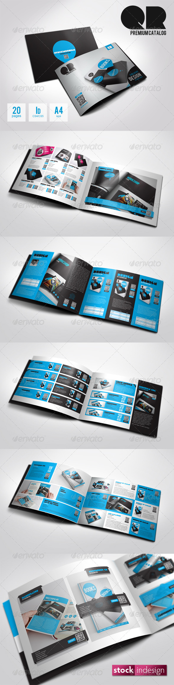 Graphic River QR Flexible Product Catalog Premium v2 Print Templates -  Brochures  Catalogs 1791356