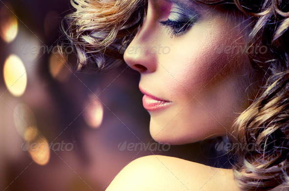 Beauty Fashion Portrait - Stock Photo - Images