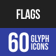 Flags Glyph Icons-Graphicriver中文最全的素材分享平台