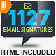 1127 Email Signature-Graphicriver中文最全的素材分享平台