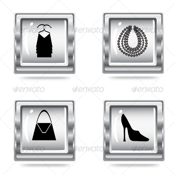 GraphicRiver fashion icons set 70341