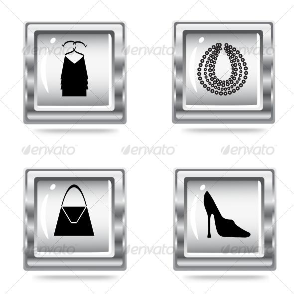 GraphicRiver fashion icons set 70341
