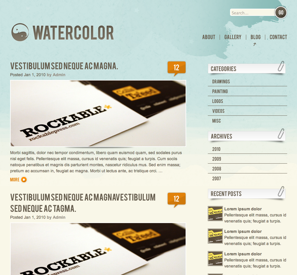 Watercolor WordPress