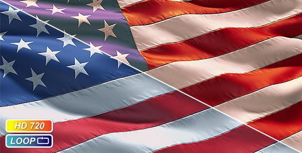 Stock Video - VideoHive Realistic closeup USA Flag 212982