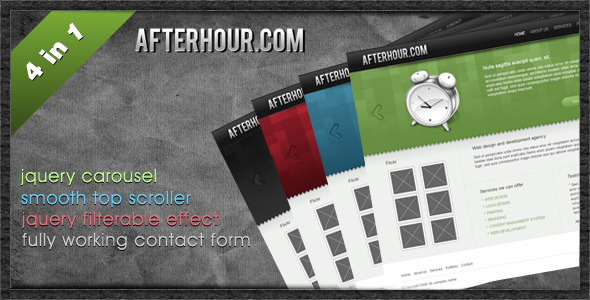 Professional Portfolio Template - Afterhour - Creative Site Templates