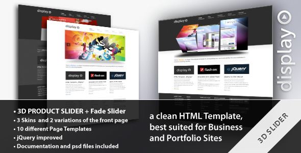 Display 3 in 1 - Business & Portfolio HTML Theme