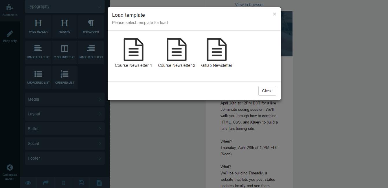 Loading #templates #html5