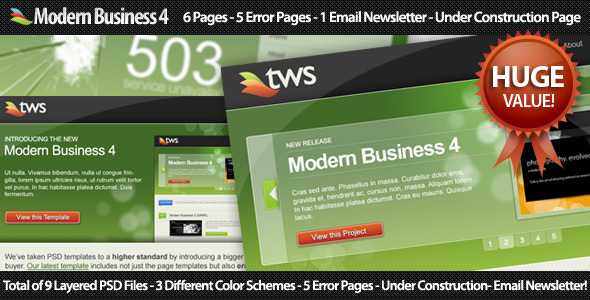 Modern Business 4 - Corporate PSD Templates