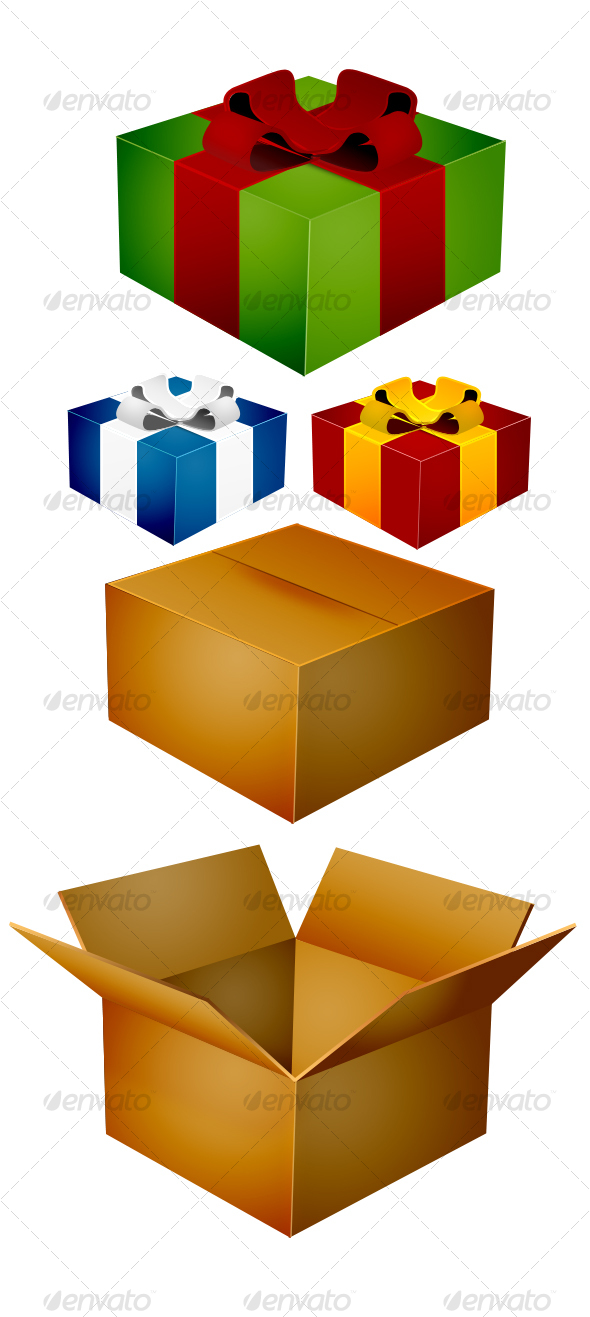 Christmas Box Icons - Seasonal Icons
