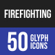 Firefighting Glyph Icons-Graphicriver中文最全的素材分享平台