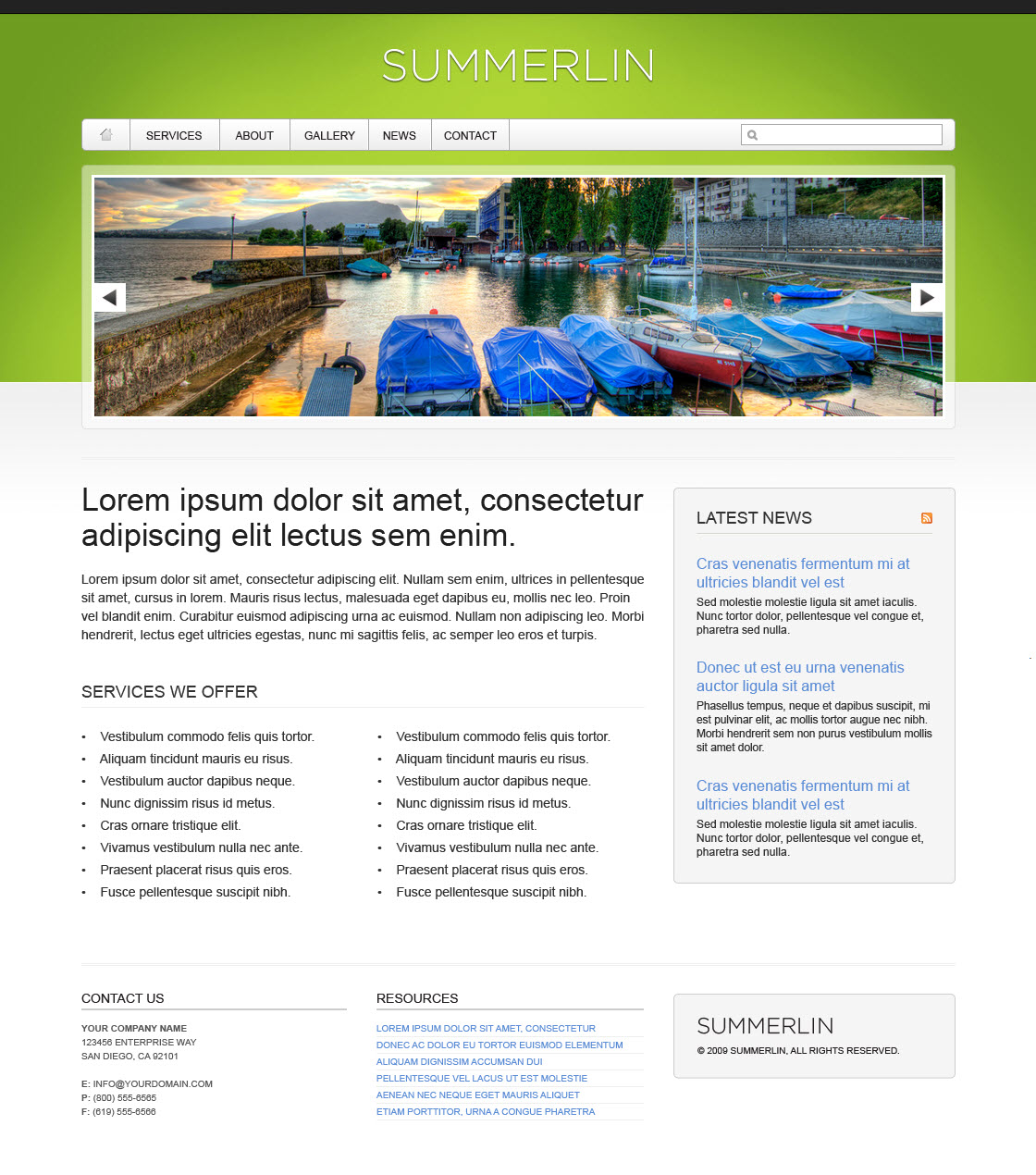 Summerlin - 8 in 1 - Premium XHTML/CSS Template