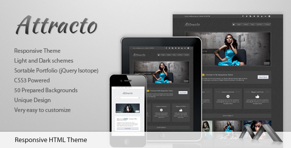 ThemeForest Attracto HTML Responsive Theme 1817036
