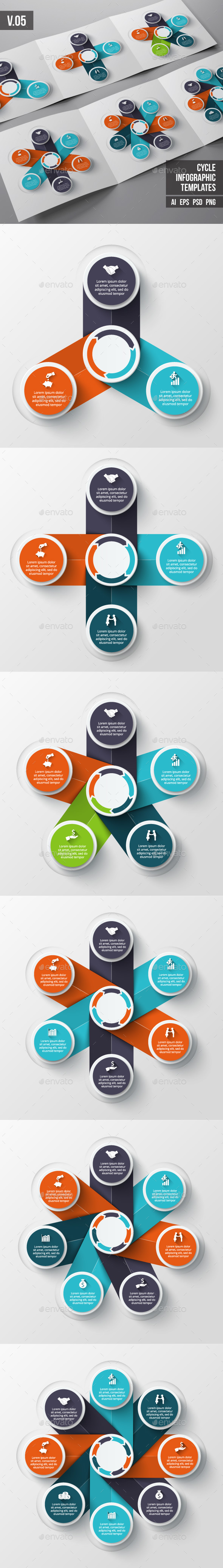 Infographic template psd download
