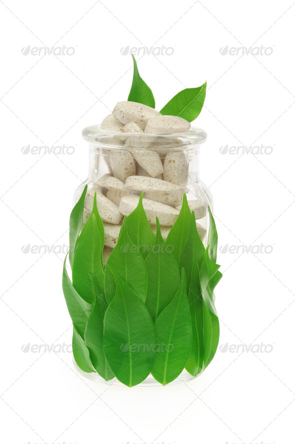 Natural supplement pills - Stock Photo - Images