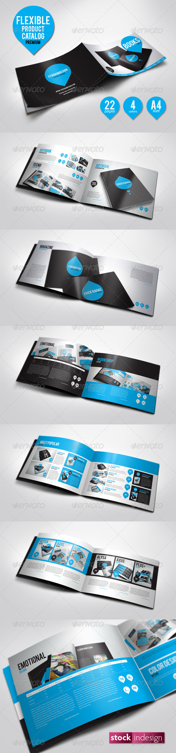 Flexible Product Catalog - Unlimited Colors - Corporate Brochures