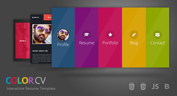 Interactive Resume interactive resume services global contract manufacturing Colorcv Interactive Resume Template By Umairrazzaq Themeforest