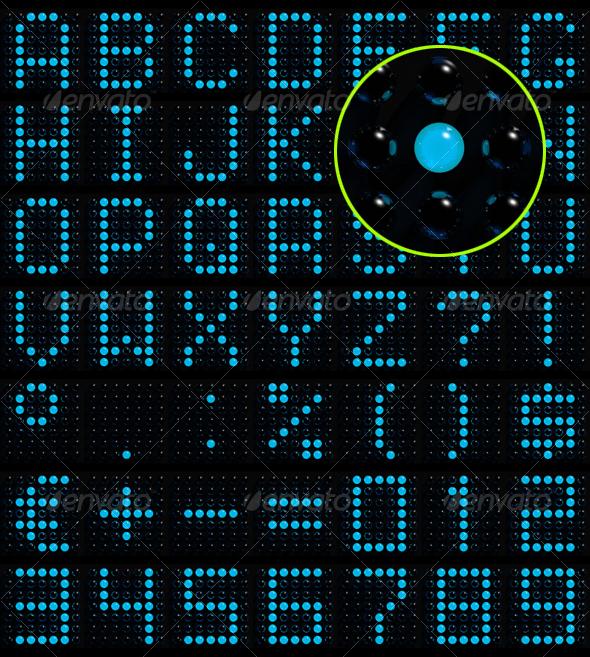 GraphicRiver 3D dot-matrix font 71111