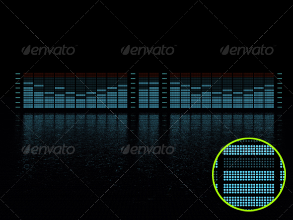 GraphicRiver graphic equalizer display 71119