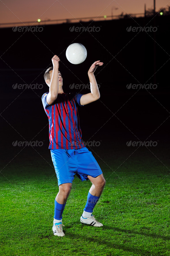 football player in action - Stock Photo - Images