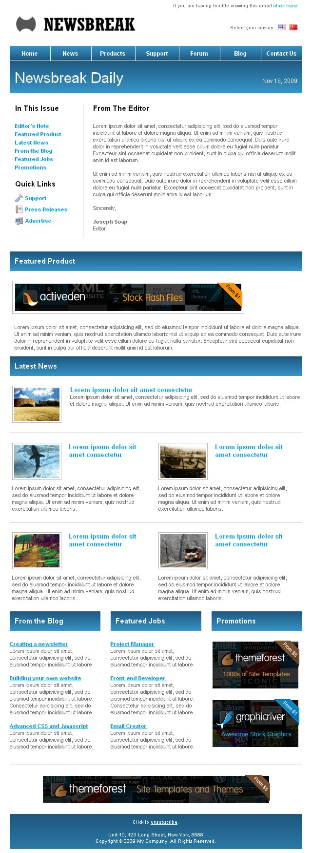 Newsbreak - Corporate Email Template