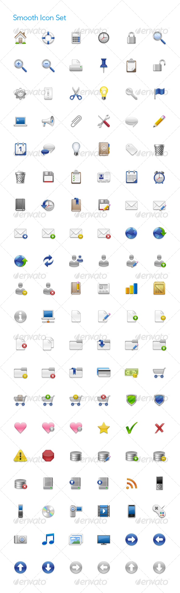 GraphicRiver Smooth Icon Set 69301