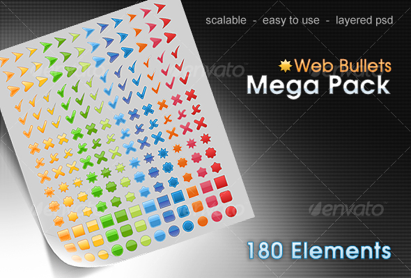 web bullets pack - Miscellaneous Web Elements