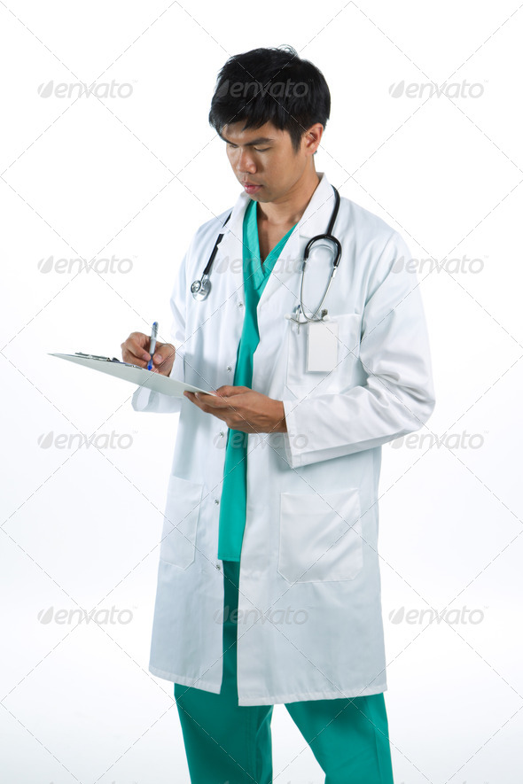 Portrait of a male doctor - Stock Photo - Images