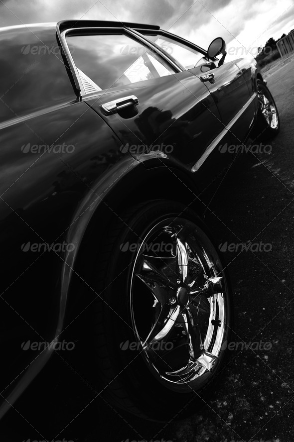 racing sport car wheel - Stock Photo - Images