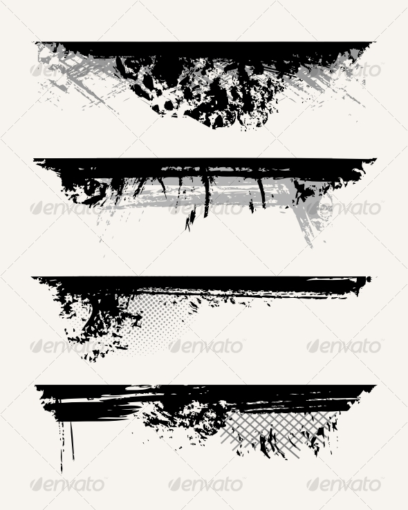 GraphicRiver Set of grunge edges 71453