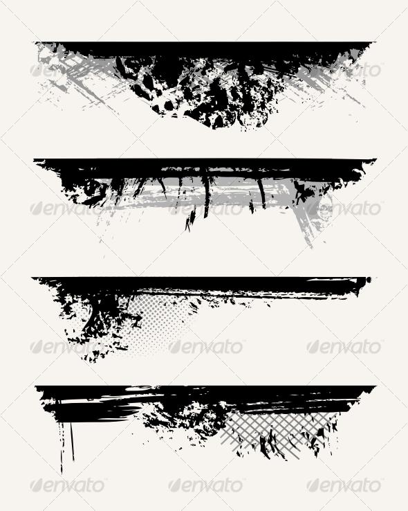 GraphicRiver Set of grunge edges 71453