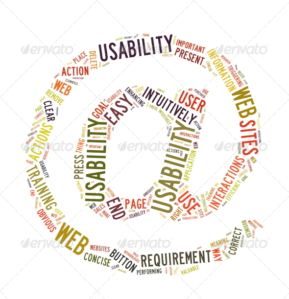 Web Usability word cloud isolated - Stock Photo - Images