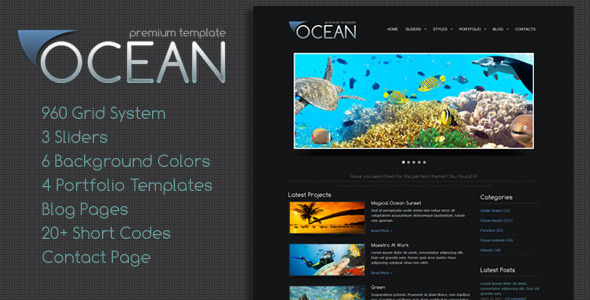 Ocean Premium Template - Title Theme
