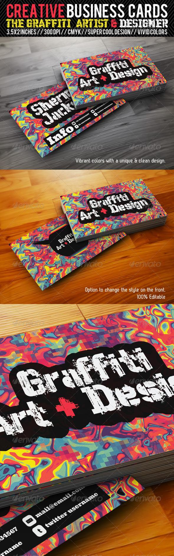 GraphicRiver Creative Business Card#3-Grafitti Art & Designer 1837426