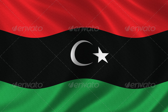 Flag of the Kingdom of Libya - Stock Photo - Images