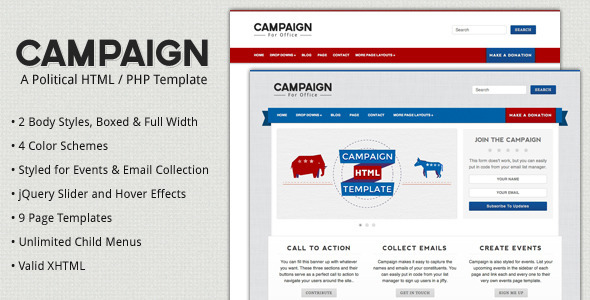 ThemeForest Campaign Political HTML Template 1840180