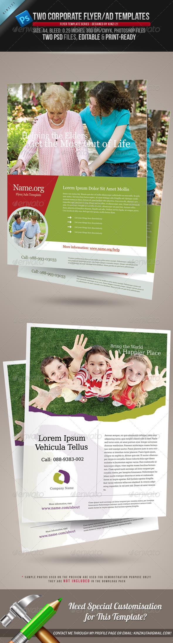 2 Corporate-Style Flyer/Ads Templates - Corporate Flyers
