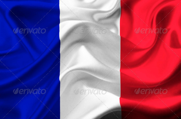 France waving flag - Stock Photo - Images