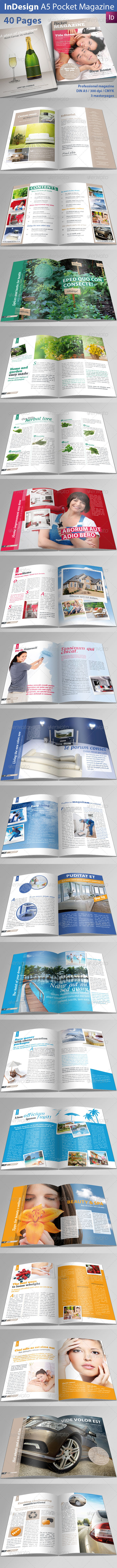 A5 Pocket Magazine - Magazines Print Templates