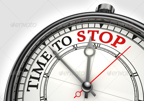 time to stop concept clock - Stock Photo - Images
