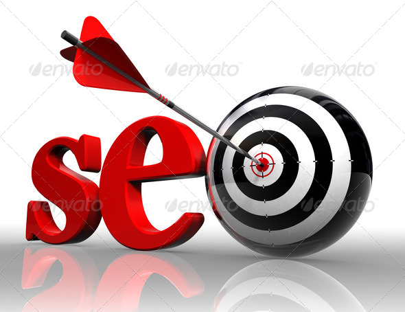 PhotoDune seo red word and conceptual target 1852320