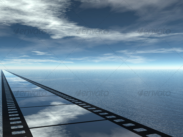 seascape poster for cinema presentation - 3D Backgrounds